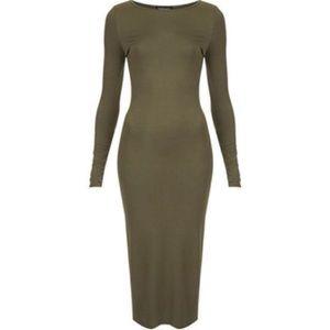 Topshop Olive Dress